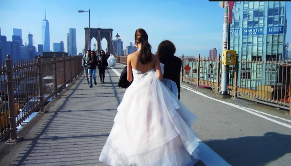 The Bride on Brooklyn Bridge